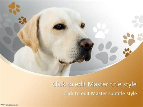free dog ppt template