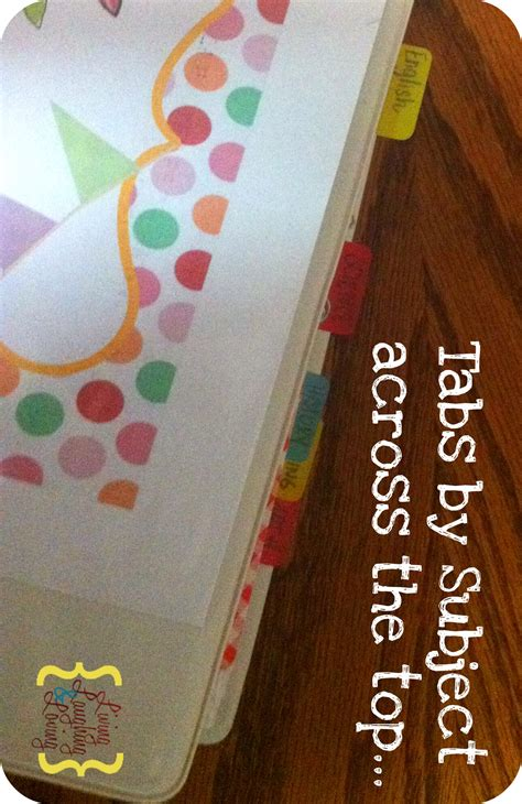 Organizing with Subject Folders Back 2 School Printables