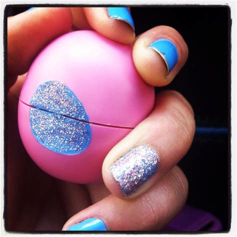Decorated Eos Lip Balm by Decorate Your Eos With Nail And Paint Your Nails