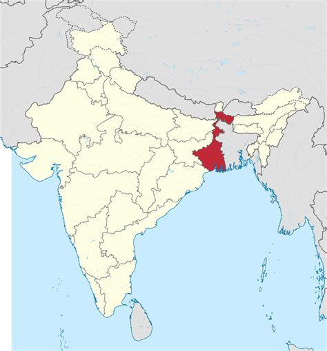 bengal india map west bengal simple the free encyclopedia