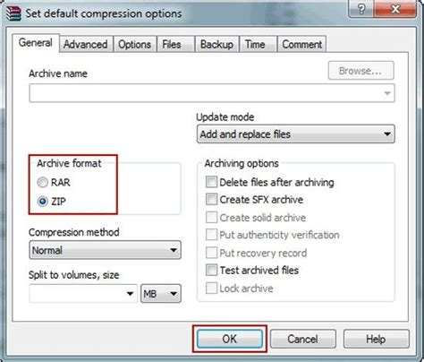 format file lzh how to convert rar archive to zip format easily