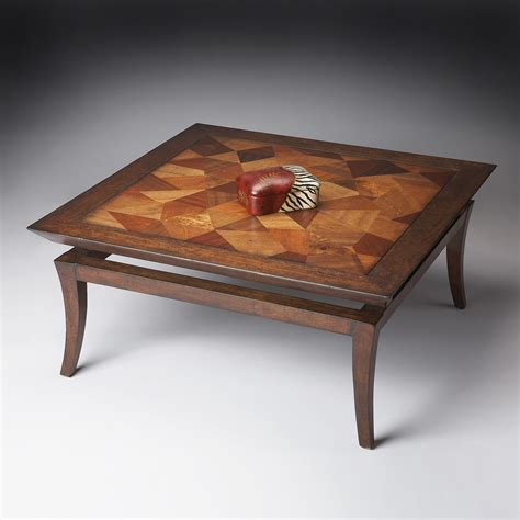 Shop Butler Specialty Butler Loft Wood Inlay Pattern Square Coffee Table at Lowes.com