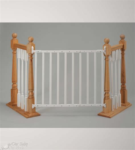 top of stairs baby gate with banister best gate for top of stairs with banister 28 images