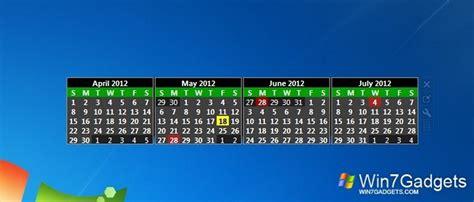 Windows 7 Calendar Gadget Simple Calendar Windows 7 Desktop Gadget