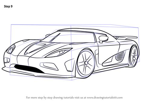 Step By Step How To Draw Koenigsegg Agera R