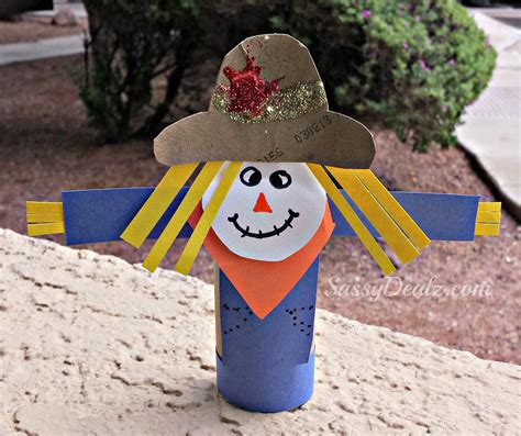 scarecrow paper craft scarecrow toilet paper roll craft for kid s