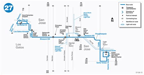 kaiser san jose hospital map route 27 map