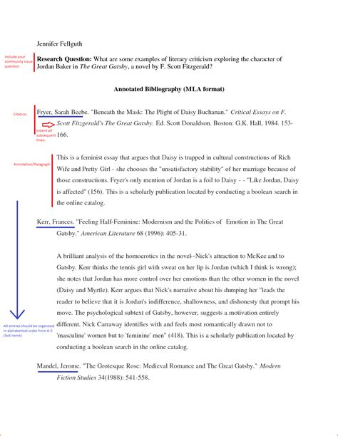 Mla Annotated Bibliography Template 7 annotated bibliography exle mla format