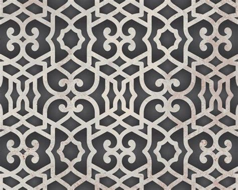 moroccan trellis wall stencil pattern chez sheik allover
