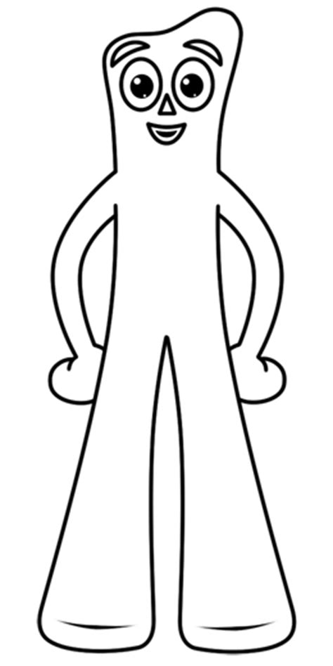 cartoon gumby tattoo gumby coloring page gumby pinterest rock painting