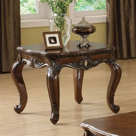 cherry side tables for living room remington occasional living room end table carved solid