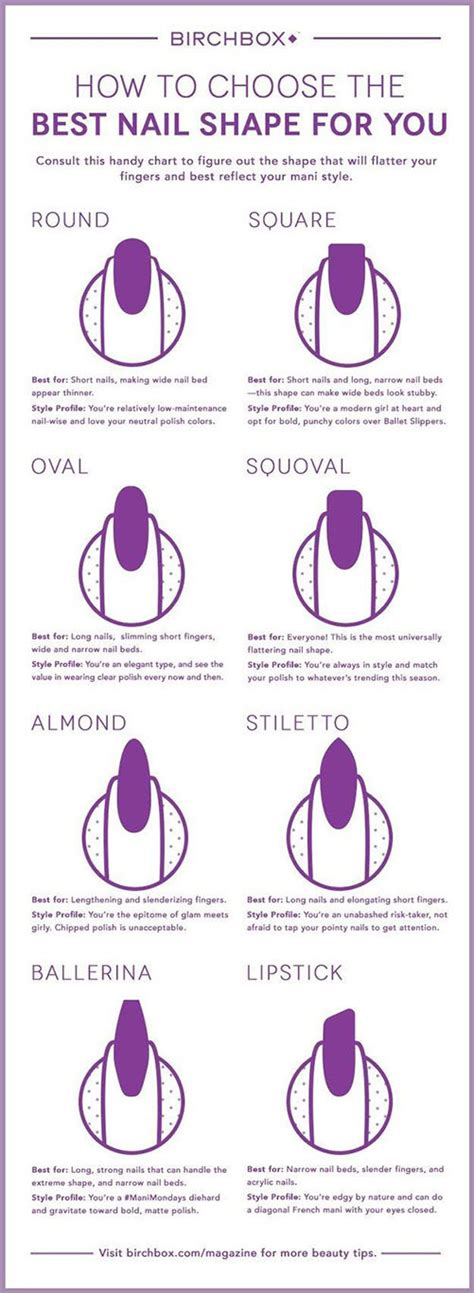 8 Nail Shapes And How To Choose The One For You by How To Choose The Best Nail Shape For You Useful Tutorials