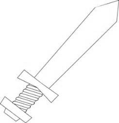 sword coloring pages sword clip at clker vector clip