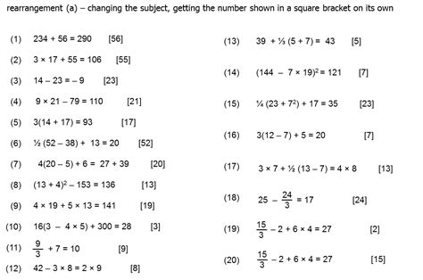 Rearranging Equations Worksheet Answers by Question Of The Week 4 Rearranging Formula