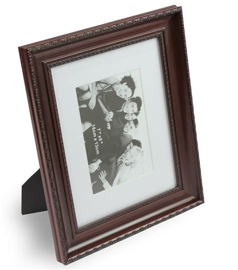 10 By 10 Matted 6 By 6 - 8 x 10 mahogany photo picture frame matted to 5 x 7