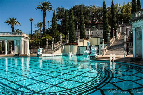 night view of roman style swimming pool with deck jets hearst castle neptune pool and the roman indoor pool