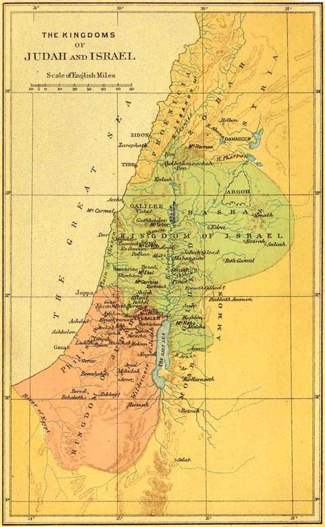 biblical map of israel bible maps bible maps