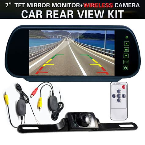The In Shops See Your Rear On Screen Now by 7 Quot Lcd Screen Car Rear View Backup Mirror Monitor Wireless