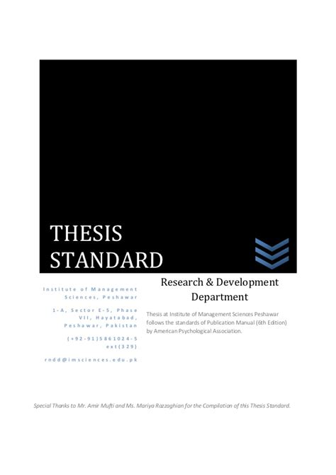 thesis guidelines 28 standard dissertation format thesis guidelines