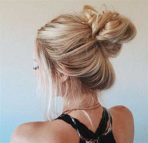 new hairstyles buns 20 easy hair buns long hairstyles 2016 2017