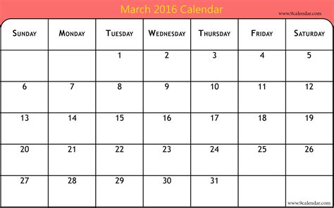 printable calendar 2015 for march march 2016 calendar printable one page 2017 printable