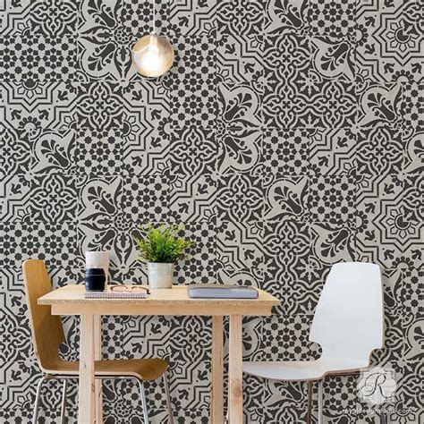 european pattern tiles tile stencils for walls floors and diy kitchen decor