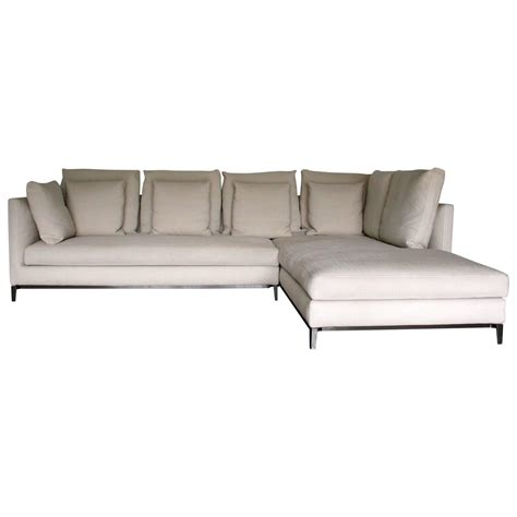 slim sectional sofa minotti quot andersen slim 103 quilt quot l shape sofa by dordoni