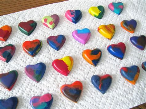 crayon hearts melted crayon hearts valentines day
