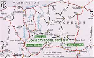 Painted Hills Oregon Map by Plan Your Visit John Day Fossil Beds National Monument
