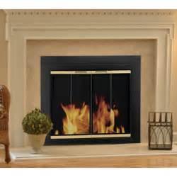 pleasant hearth arrington fireplace screen and bi fold