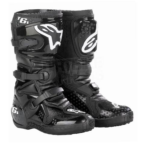 alpinestars tech 6 motocross boots alpinestars tech 6 s youth boots black