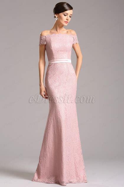 Shoulder Lace Evening Gown graceful shoulder lace evening dress bridesmaid dress