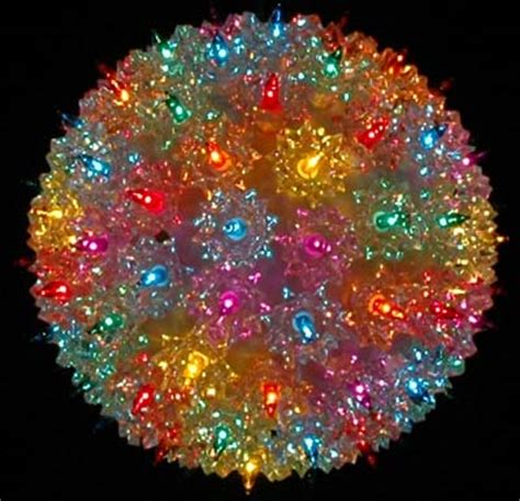7 5 quot starlight sphere 100 light multi christmas lighted ball