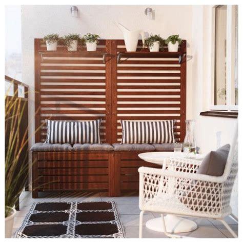 Outdoor Bench Design Ideas 196 Pplar 214 Bench W Wall Panel Shelf Outdoor Ikea Patio