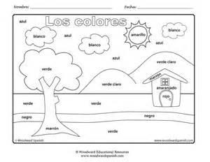 Los Colores En Espanol Worksheet Sketch Coloring Page sketch template
