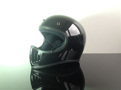 Helm Retro Type Maroon retro style cross helmet black size l dot approved