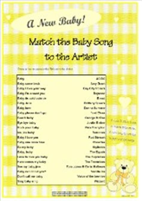 baby shower songs free printable baby shower quiz