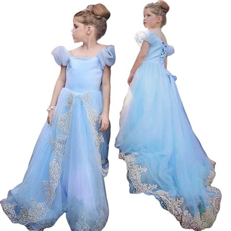 Baju Gaun Cinderela 2015 baru gaun cinderella elsa kostum gaun putri berpayet kartun kostum gadis