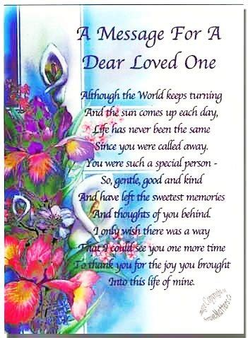 message for a loved one grief pinterest