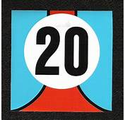 Gulf Le Mans Twenty 20 Sticker Steve McQueen Porsche