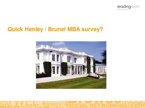 Brunel Mba by Reading Room Singapore Presentation To Henley Brunel Mba