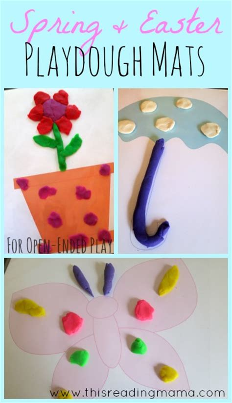 free printable spring playdough mats free spring themed playdough mats free homeschool deals