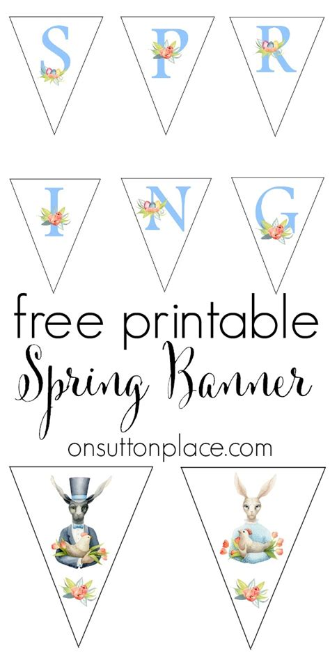 printable banner spring spring easter bunny free printable banner on sutton place