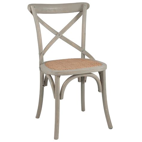 Cross Back Dining Chairs Vintage Sand Greywash Elm Wood Rattan Cross Back Bentwood Dining Chair