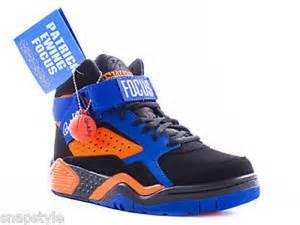 patrick ewing focus basketball shoes blackorangeblue