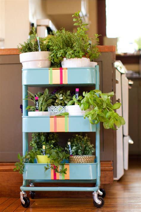 ikea garden r 197 skog kitchen cart into a rolling herb garden ikea