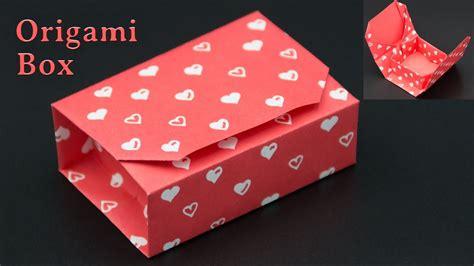 geschenkbox basteln origami box falten diy youtube
