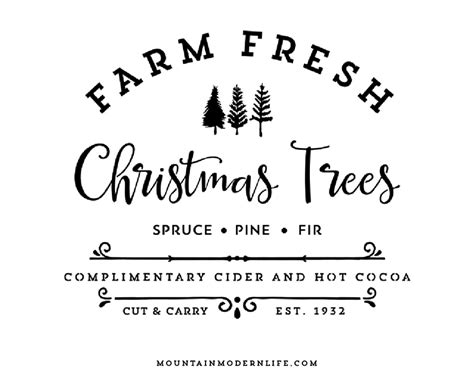Diy Home Design Software farm fresh christmas trees svg file mountainmodernlife com