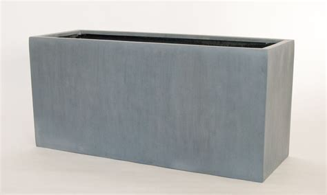 pflanzkübel fiberglas grau pflanztrog grau bestseller shop