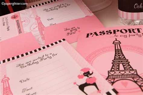 free printable paris party decorations paper glitter cute downloads printables paper crafts